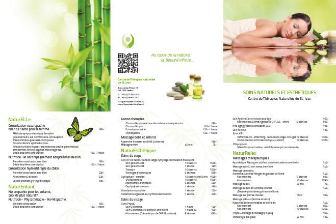 Thérapies naturelles – Liste des prix